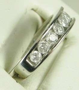 HiEnd 14k White Gold 3/4ctw F SI Genuine Diamond Anniversary Band Ring