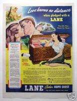 1944 Lane Cedar Hope Chest Johnnie Walker Magazine Ad