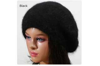 wool BERET beanie Knit winter Hat Cap ski NWT angora