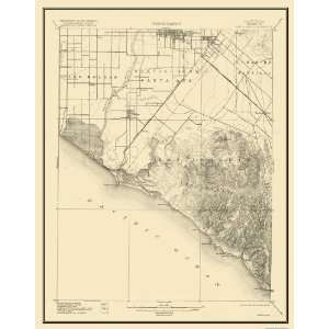 USGS TOPO MAP SANTA ANA QUAD CALIFORNIA (CA) 1901