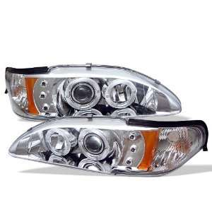 1994 1998 Ford Mustang SR LED Chrome Halo Projector