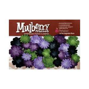 Mulberry Street Paper Mini Delphiniums Lavender, Purple, Green, Black