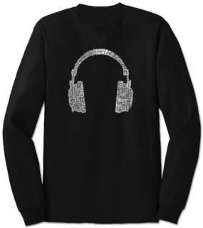 Long Sleeve Headphones out of Different Music Genres T shirts at