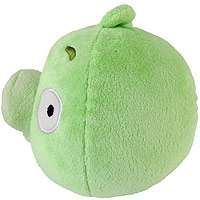 Angry Birds 5 inch Plush with Sound   Green Pig   Commonwealth Toys