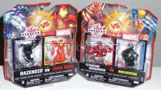 BAKUGAN VS MARVEL TITANIUM DRAGONOID VS WOLFERINE RAZENOID VS IRON MAN