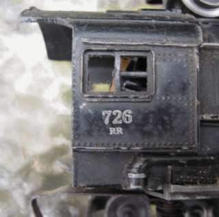VTG LIONEL LINES TRAIN BLACK 726 STEAM LOCOMOTIVE TENDER SET~BERKSHIRE