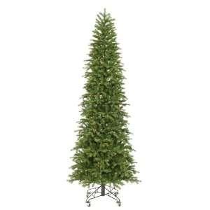 Pre Lit Slim Redwood Pine Christmas Tree   Multicolor Duralit Lights