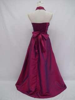 Cherlone Plus Size Satin Dark Purple Ball Gown Wedding/Evening Dress