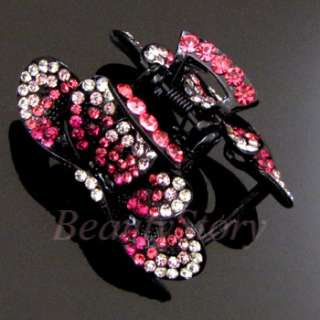 ADDL Item  Austrian rhinestone crystal fashion hair claw