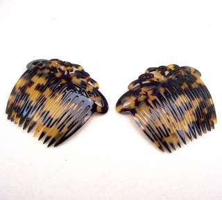 LOT OF TWO FRANCE LUXE FAUX TORTOISESHELL (TOKYO) SIDE HAIR COMBS
