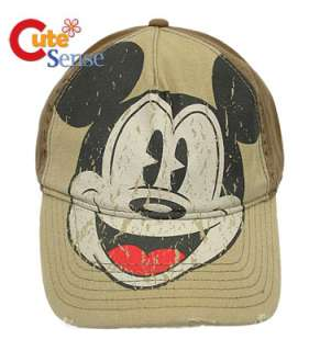 Disney Mickey Mouse Adjustable Baseball Cap/Hat Beige