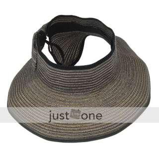 Roll Up Lady Girl Women Beach Sun Summer Brim Visor Hat