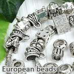 100*Mulitcolor Crystal Glass European Beads Charm