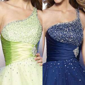 2012 New Short Crystal Wedding Prom Dress Gown party ball beading