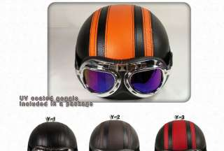 Motorcycle scooter Vintage helmet motorbike goggle+Ear Cover Winter