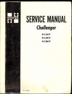 H110 F / H130 F / H150 F FORKLIFT / LIFT TRUCK SERVICE MANUAL