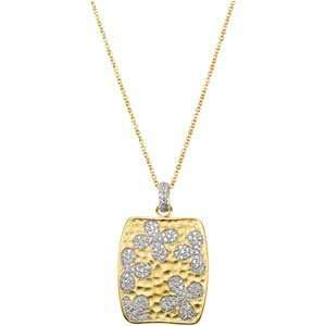 14K Yellow Gold Gold Plated Cubic Zirconia Necklace With 2 Extender W