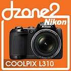 Nikon Coolpix L310 Digital Camera BLACK 14.1MP 21x Zoom VR 3 LCD 720p