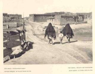 New Mexico. ZUNI INDIAN PUEBLO. Old Hoppe Print.1930