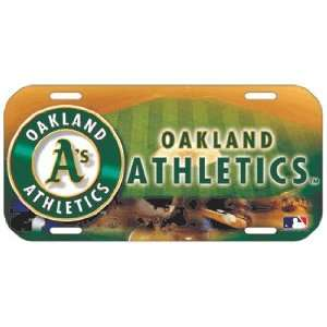 MLB Oakland Athletics As High Definition License Plate