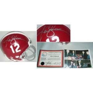 Ken Stabler Signed Alabama ProLine Riddell Helmet