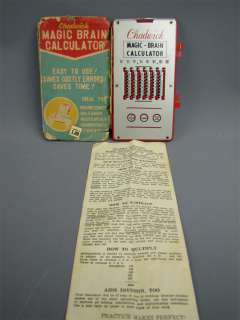 Vintage Chadwick Magic Brain Calculator w/ Instructions