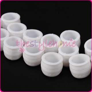 20pcs Delicate White Flower Pots Landscape Model Scale 1/200 Cute