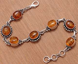 LULAPORT PREMIER DESIGNS AMBER SILVER JEWELRY BRACLET 7.5 TO 8.5