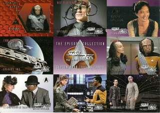 Star Trek TNG season 4 9 card prototype promo panel P1