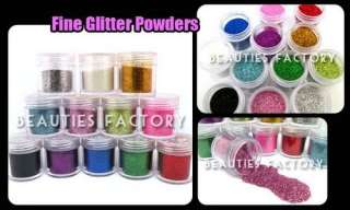 12 COLOR FINE GLITTER NAIL ART DECORATION PRO TOOLS 422