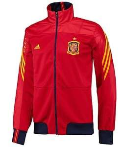 New Adidas Mens SPAIN TRACK TOP Soccer Football Red Espana Jersey