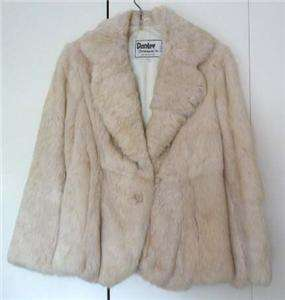 DANLEE OUTERWEAR GENUINE RABBIT FUR LIGHT GRAY JACKET S
