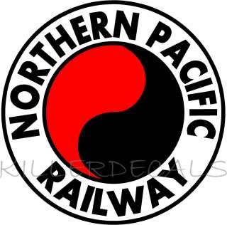 12 NORTHERN PACIFIC RAILROAD LOGO DECAL TRAIN STICKER WALL OR WINDOW