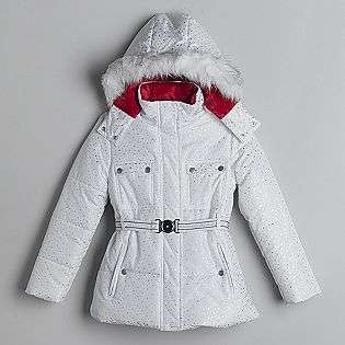 Girls Faux Fur Trimmed Stadium Jacket  Route 66 Clothing Girls
