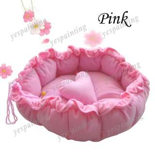 Pink Pet Puppy Dog Cat Soft Pet Bed Sleeping Bag Warm Cushion+ Pillow