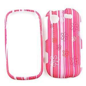 Samsung Messager R630 Flowers on Pink Stripes Hard Case/Cover