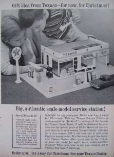 TEXACO Scale Model Gas Service Station Buddy L Toy Advertisent