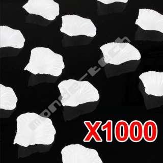 1000 White Silk Rose Petals Party Flower Wedding Favor