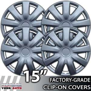 2004 2006 Toyota Camry 15 Inch Silver Metallic Clip On