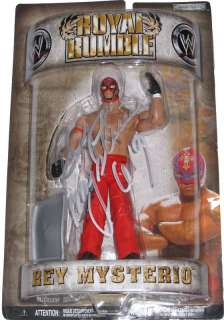 WWE ROYAL RUMBLE REY MYSTERIO SIGNED FIGURE WITH PROOF