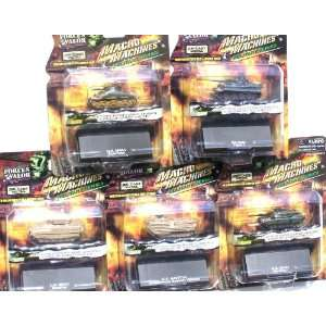 Machine Die Cast Military Series Collection Set of 5 Toys & Games