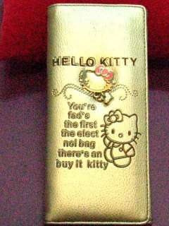 Hello Kitty long wallet purse silver 18cm x 9cm