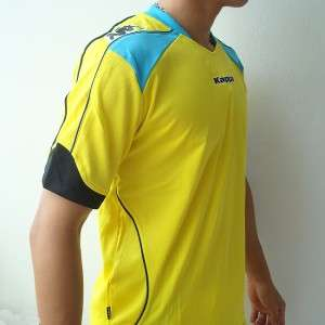 KAPPA Athletic Mens Football Soccer Shirt Yellow M L XL