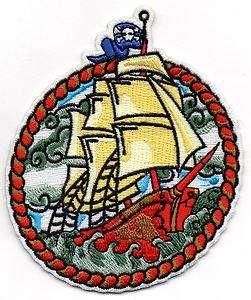 Nautical Ship Patch Navy Tattoo Pirate skull Naval