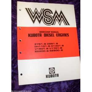 Z851 B Diesel Engine OEM Service Manual Kubota Z751 B/Z851 B Books