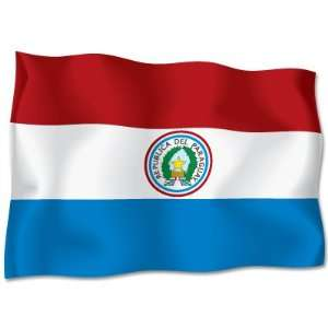 PARAGUAY Flag car bumper sticker decal 6 x 4