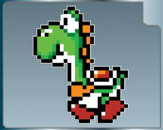 YOSHI vinyl decal #1 Super Mario Brothers car & iPhone