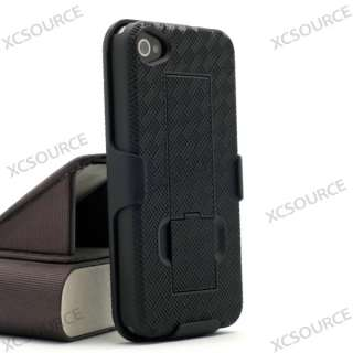 Black hard case cover stand belt clip guard holster for iphone 4 4G 4S