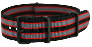 PVD STRIPPED nylon NATO Watch Band Strap fit TIMEX WEEKENDER