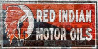 WEATHERED BUILDING SIGN HO O DECAL RED INDIAN OIL GSRIO